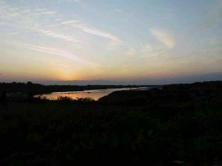 木曽川の夕暮れ